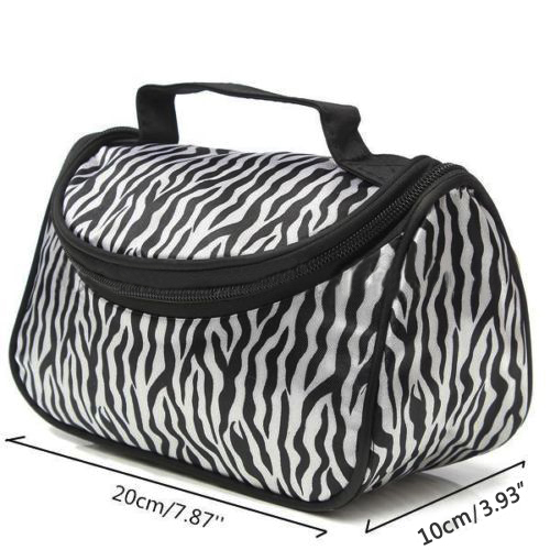 Bluelans Zebra Travel Wash Storage Bag Toiletry Pouch Portable Cosmetic Case Makeup Bag(China (Mainland))