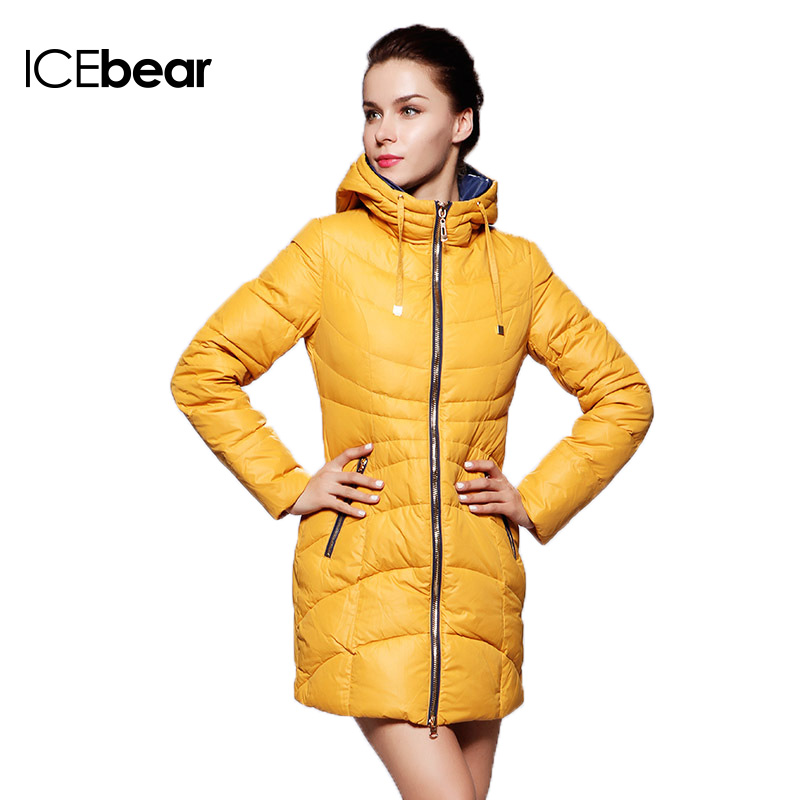 ICEbear 2015 New Winter Women Long Warm Cultivate One's Morality Upset Down Jacket Have Big Yards Fashion Coat 13G6112(China (Mainland))