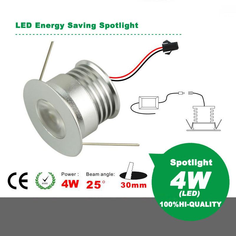 LED Energy Saving Mini Spotlight Ceiling Light 4W AC85-265V High Color Rendering Index(China (Mainland))