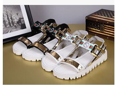 2015 GZ metal influx men breathable leather open toe platform sandals men's beach - The David Jack fashionable European version of the shop store