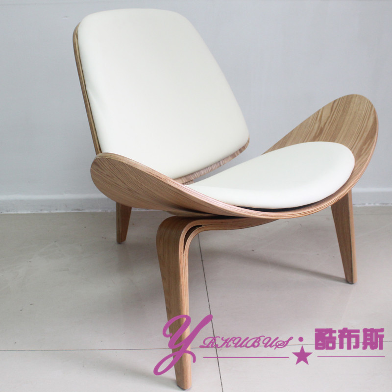 Buy Cool Booth Shell Chair Curved Triangular Wooden Stool Aircraft Shell Chair