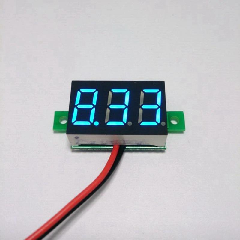 5pcs/lot Good quality ultra small dc 3-30V blue led car digital panel voltmeter voltage watt meter gauge dc car motor monitor(China (Mainland))