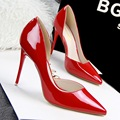 2015 New Sexy Fashion Thin High Heels Women Shoes PU Nightclub 10CM Pointed Toe Purple High