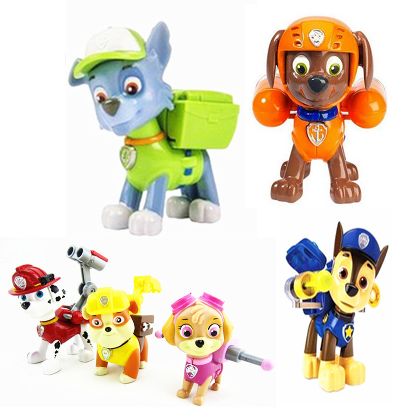 Hot One Piece Patrulla Canina Toys Anime Action Figure Puppets Puppy Patrol Toy For Children Juguetes Brinquedos Gift To Boy(China (Mainland))