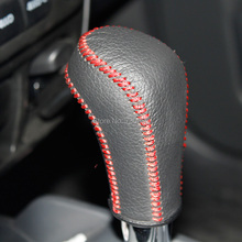 XuJi Black Genuine Leather Suede Gear Shift Knob Cover for Suzuki Jimny Swift Grand Vitara Automatic(China (Mainland))