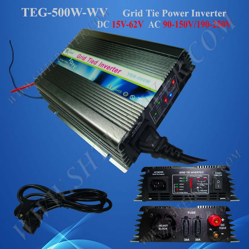 500W Grid tie inverter,110V/120VAC, Pure sine wave inverter,36V panel,with MPPT function,solar inverter,120VAC/100VAC(90-140VAC)(China (Mainland))