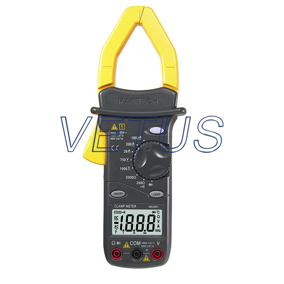 MASTECH MS2001 Digital Clamp Meter AC/DC Voltage Tester with Diode<br><br>Aliexpress