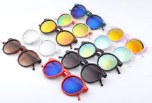 Fashion multicolour 2015 mercury Mirror glasses men sunglasses women male female coating sunglass gold round OCUL