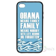 For iphone 4/4s 5/5s 5c SE 6/6s plus ipod touch 4/5/6 back skins mobile cellphone cases cover Ohana Means Family Designs