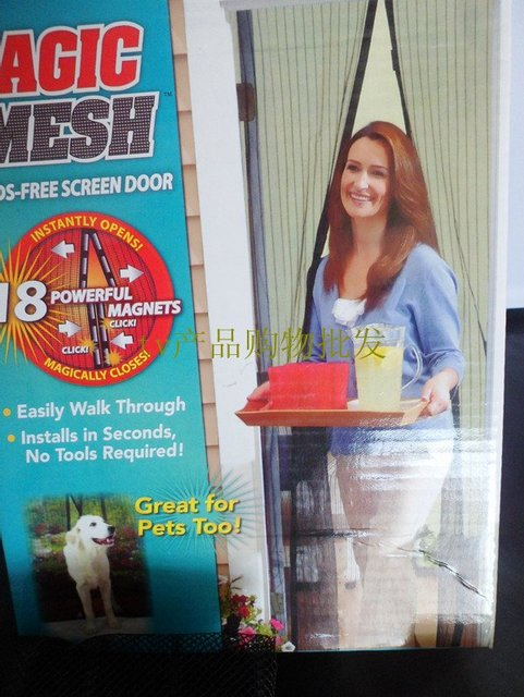 wholesale promotion As Seen On TV! 1pc/lot New Magic Mesh Hands-Free Screen Door Magnetic Anti Mosquito Bug Great For Pets