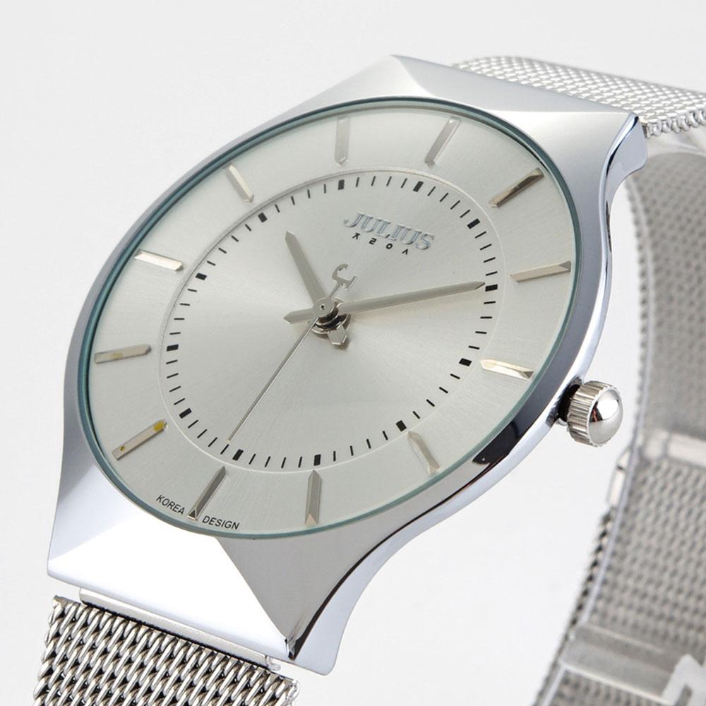 Top Brand Julius Men Watch Stainless Steel Band Analog Display Quartz Wristwatch Ultra Thin Dial Men's Watches Relogio Masculino(China (Mainland))