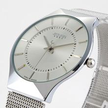 Top Brand Julius Men Watch Stainless Steel Band Analog Display Quartz Wristwatch Ultra Thin Dial Men's Watches Relogio Masculino