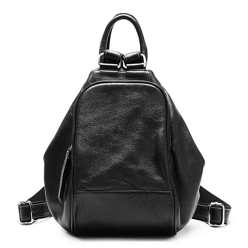 New Zency Genuine Cow Leather Top Layer Cowhide Women's Backpack Shoulder Tote Bag(Hong Kong)