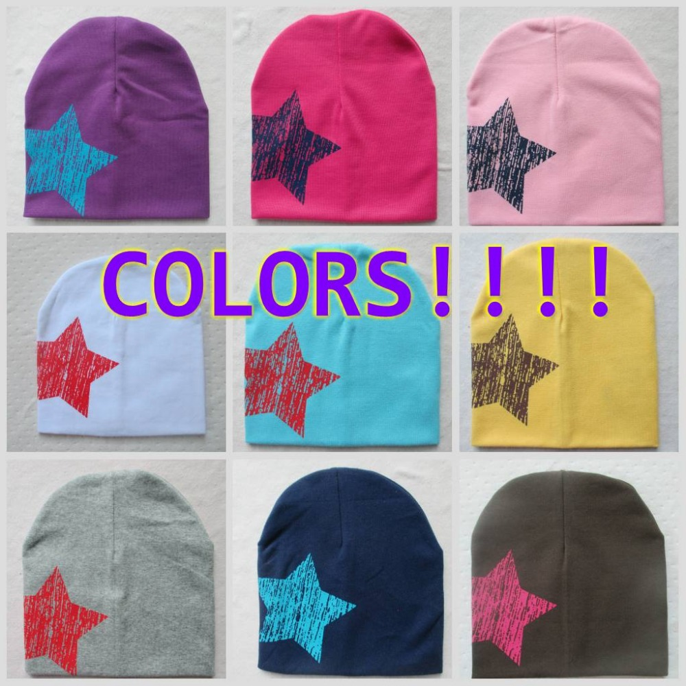 2015 new baby hat knitted stars spring fall baby hats I LOVE PAPA MAMA infant cap Cotton children Beanies ld70(China (Mainland))