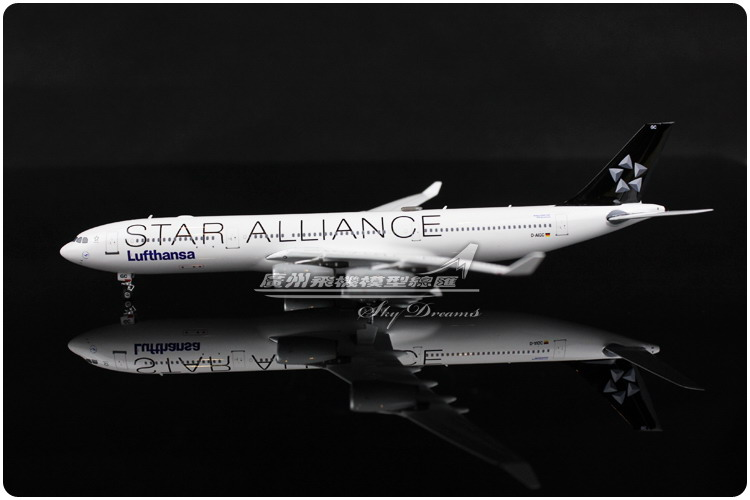 15.9cm 1:400 Lufthansa Air Star Alliance Airlines Airbus A340 300 D-AIGC Airways Airplane Model Plane Model Toy Collections Gift(China (Mainland))