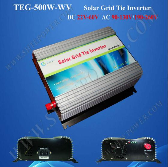 dc 22-60v to 100v 110v 120v 220v 230v 240v 500w grid tie micro inverter for solar system(China (Mainland))