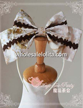 Magic Tea Part VERONICA Elegant Printing KC Lolita Headbow Head Wear