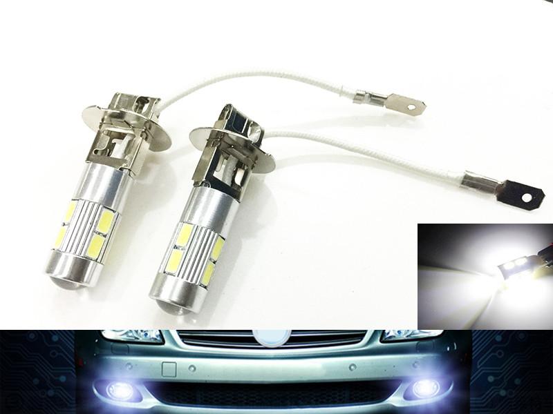 High Power 12v 1pcs H3 led car light Fog led high power lamp 5630 smd Auto car led bulbs Car Light Source parking Headlight(China (Mainland))