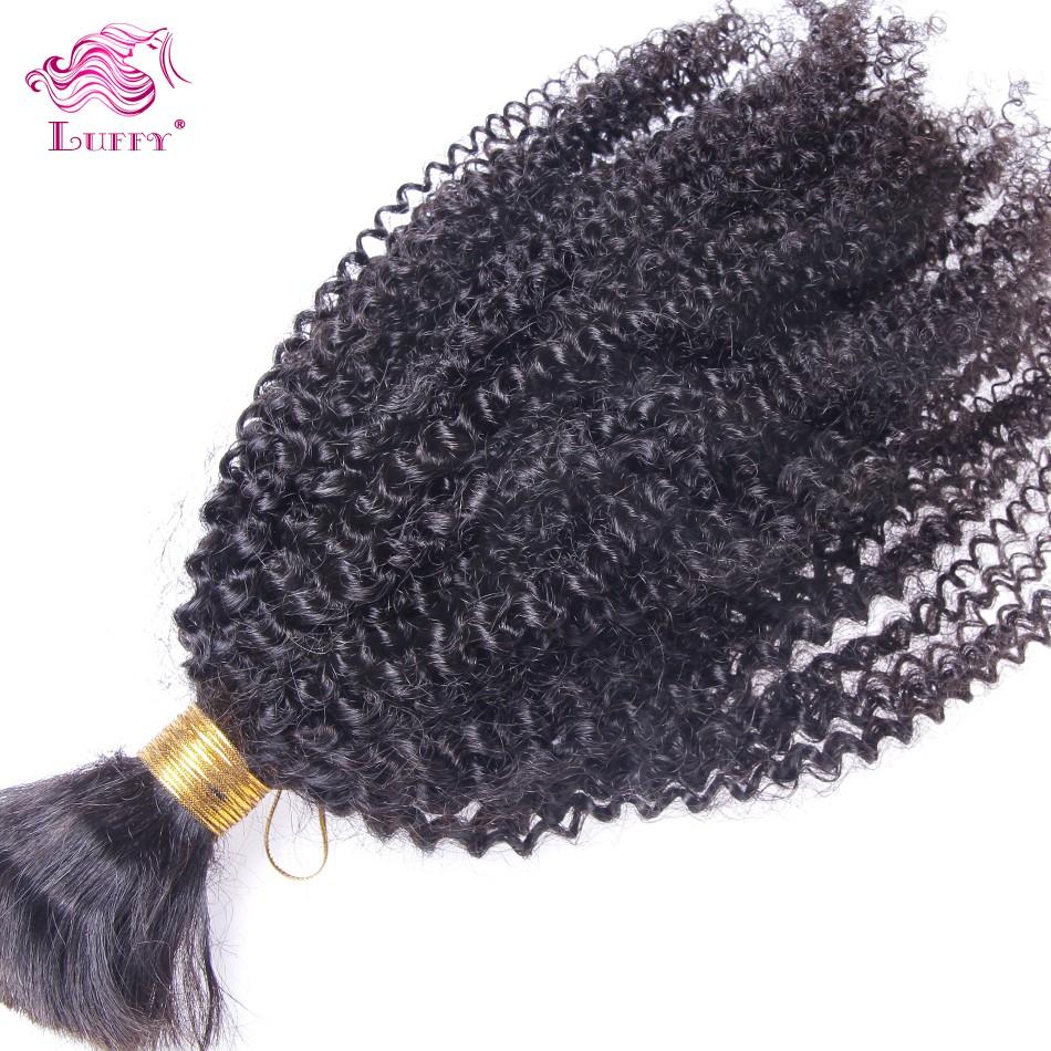 Factory Price Brazilian Braiding Hair Bulk Virgin Human Hair Afro Kinky Hair Braids No Weft Braiding Hair Extensions Best Sale