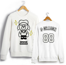 Bigbang Clothes GD Peripheral Round Neck Hoodies Couple Loose Sweatshirt Autumn Men Cashmere K-pop Made - Star Model Clothing Store store