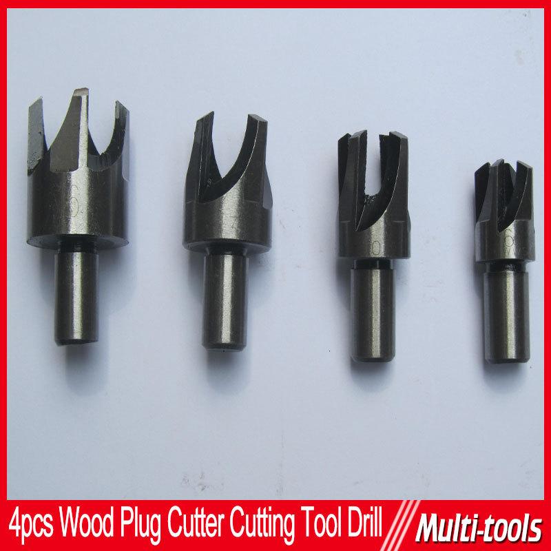 4 PCS wood plug cutter cork drill bits cutting tools set straight claw type woodworking drill 6mm 10mm 13mm 16mm<br><br>Aliexpress