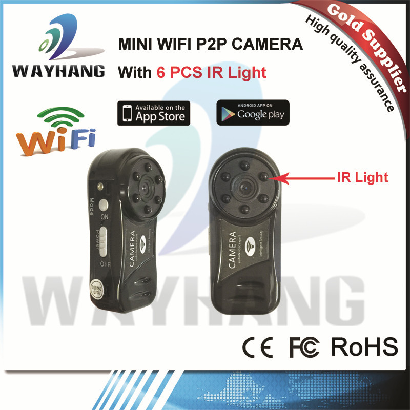 Free Shipping Newest Wifi Pinhole camera wireless wifi ip network security Night vision camera with sd slot(China (Mainland))