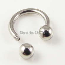 free shipping stainless steel Nostril Nose Ring circular piercing ball Horseshoe Rings CBR ring earring