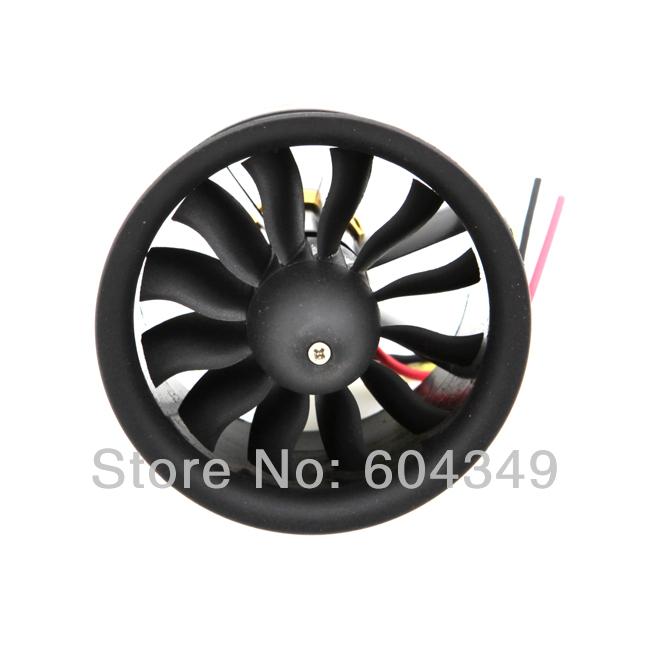 Change Sun 64mm Ducted Fan 12 Blades EDF 4s motor kv2500 set - 91hobby Store store