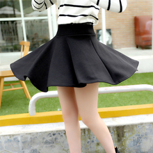 Buy High waist mini pleated skirts girls womens 2016 spring summer plus size skater black trumpet Fashion female mini Skirt for $6.88 in AliExpress store