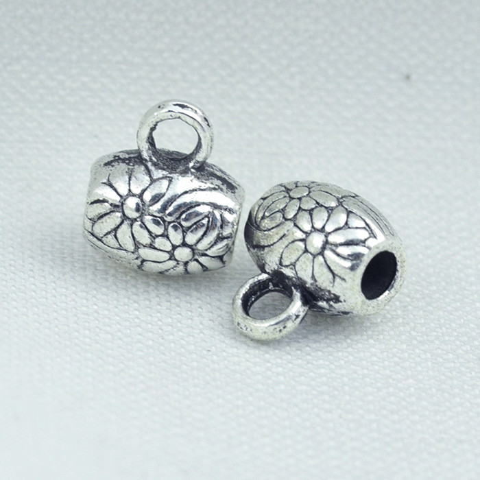 Ancient silver barrel beads DIY accessories for jewelry making antique silver tee 10 pcs diy septa spacer beads 0214(China (Mainland))