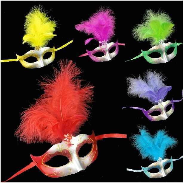 Free shipping New fashion & noble ladies' party masks for women or girls, 6 colors, Drop shipping, PW0038