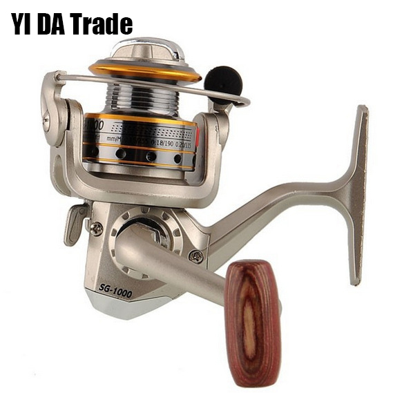 Hot Fishing Reel Plastic Head High-strength 6Bearings daiwa Spinning Reel High Quality Carretilha Pesca SG1000A free shipping(China (Mainland))