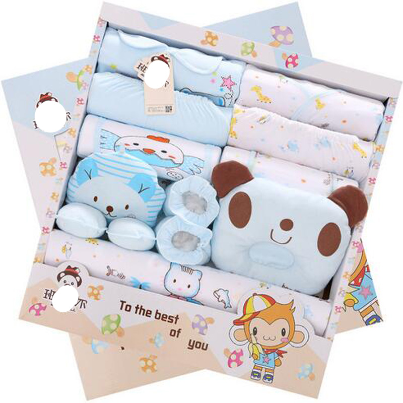 high quality 17pcs/set Newborn girl boy baby clothing baby sets clothes cartoon spring summer newborn clothing set 100% cotton(China (Mainland))