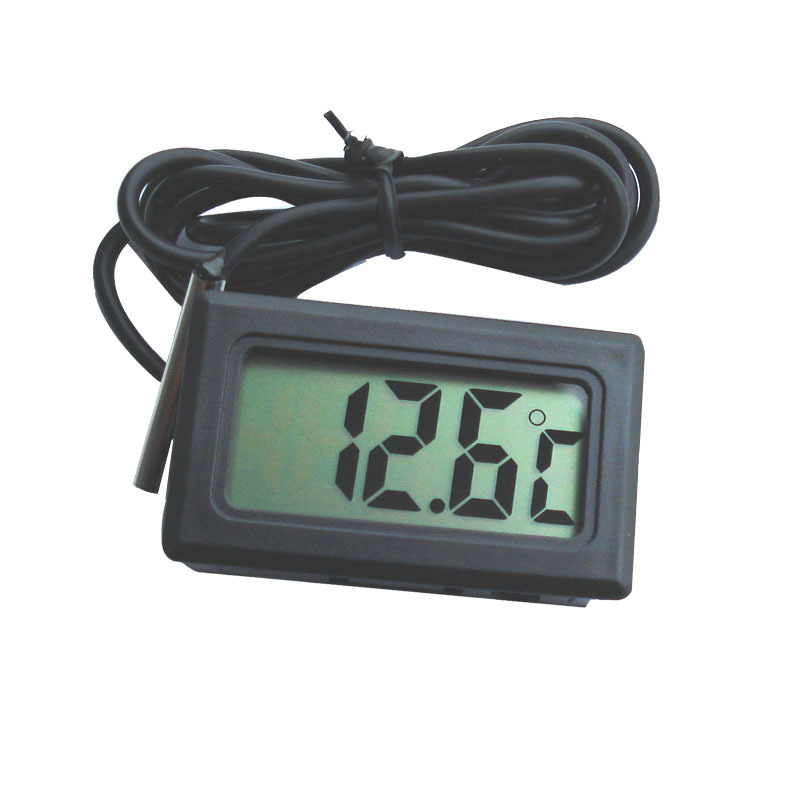 1PC New Arrival Hot Sale LCD Digital Panel Thermometer Temperature Meter Instruments, Free & Drop Shipping(China (Mainland))