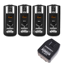4 x Yongnuo RF602 RF-602 2.4 GHz Wireless Remote Flash Trigger with Receivers For Nikon Camera D3200 D800 D600(Hong Kong)