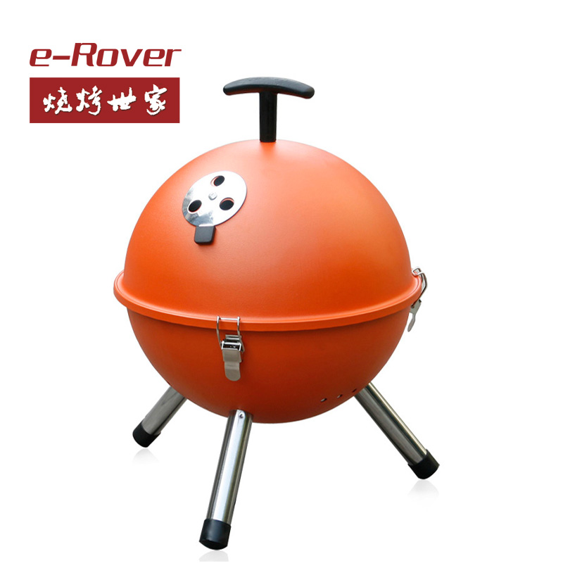 freeshipping Thickening in the wild bbq household outdoor BBQ grill charcoal portable bbq grill box set(China (Mainland))