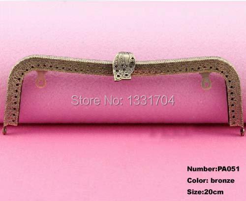 PA051 new 5pcs 20cm glossy bronze tone metal chain frame kiss clasp for purse bag purse frame DIY bag purse accessory(China (Mainland))