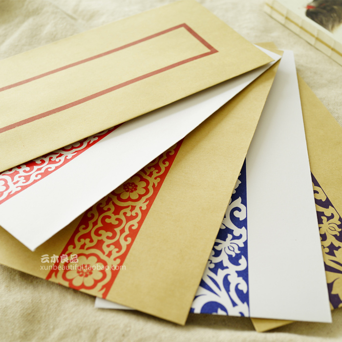 Paper Envelopes Chinese Traditional Classical Style Vintage Envelope Ancient Melodies Kraft 4*10 Pcs<br><br>Aliexpress