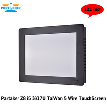 12.1 Inch Taiwan High Temperature 5 Wire Touch Screen Intel Core I5 3317u 2 RS232 Computer All in One PC with 4G RAM 128G SSD(China (Mainland))