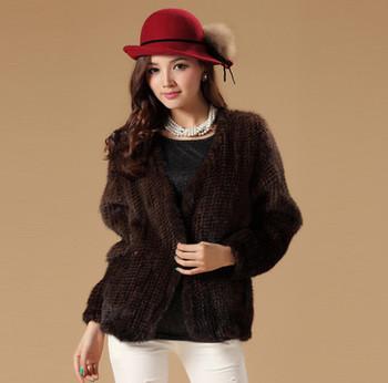 13054a good quality real mink fur coat jacket womens' dress overcoat winter coat beautiful gradient color
