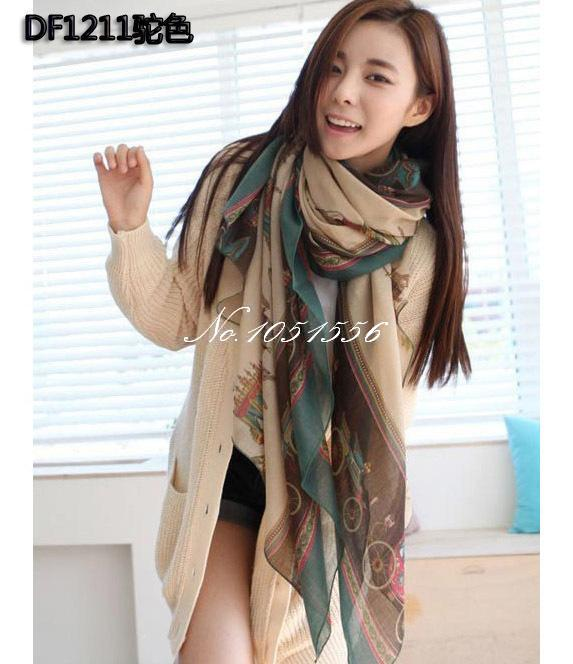 Newest scarf women lady's shawl autumn and winter warm scarf Chiffon scarves 170*90 SF745(China (Mainland))