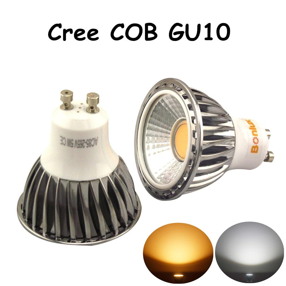 5W LED GU10 Bulb Cree COB GU10 Spotlight with 50W Halogen Gu10 Light Bulb Replacement for Living Room Kitchen Bedroom Lighting(China (Mainland))