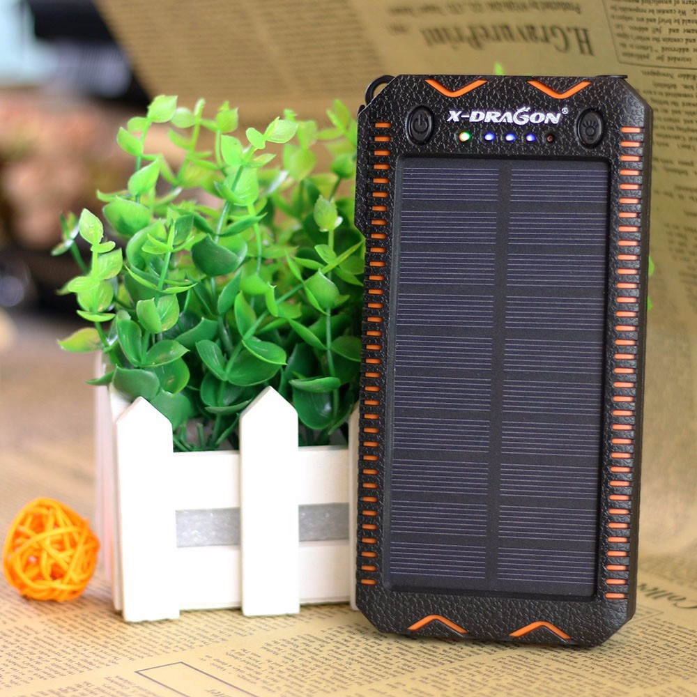 Portable 15000mAh Solar Charger Battery Cigarette Lighter Solar Power Bank Fit for iPhone Samsung Sony Huawei Xiaomi HTC.