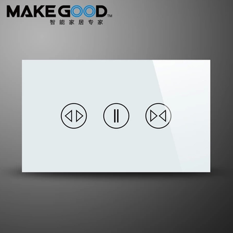 MakeGood US / AU Standard Smart Home System Wall Switch, Touch Curtain Switch with 433 MHZ frequency(China (Mainland))