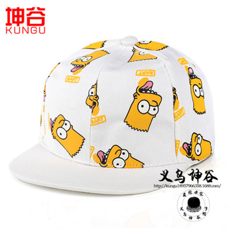 2016 Parental SpongeBob cartoon Simpson hip hop flat along the cap baseball cap male and female couple gorras(China (Mainland))