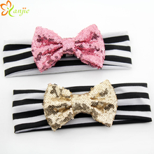 Baby 4 Sequins Bow
