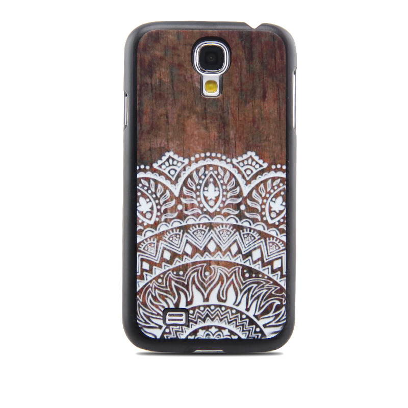 NEW Imitation Wood Lace Ethnic Patterns Protective Shell Cell Phone Hard Case Cover For Samsung Galaxy S3 S4 S5 S6(China (Mainland))