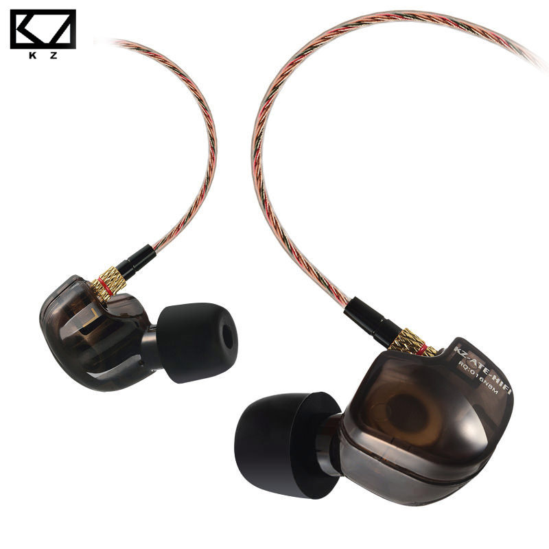 KZ ATE Copper Driver Ear Hook HiFi In Ear Earphone Sport Headphones For Running With Foam Eartips With Microphone(China (Mainland))