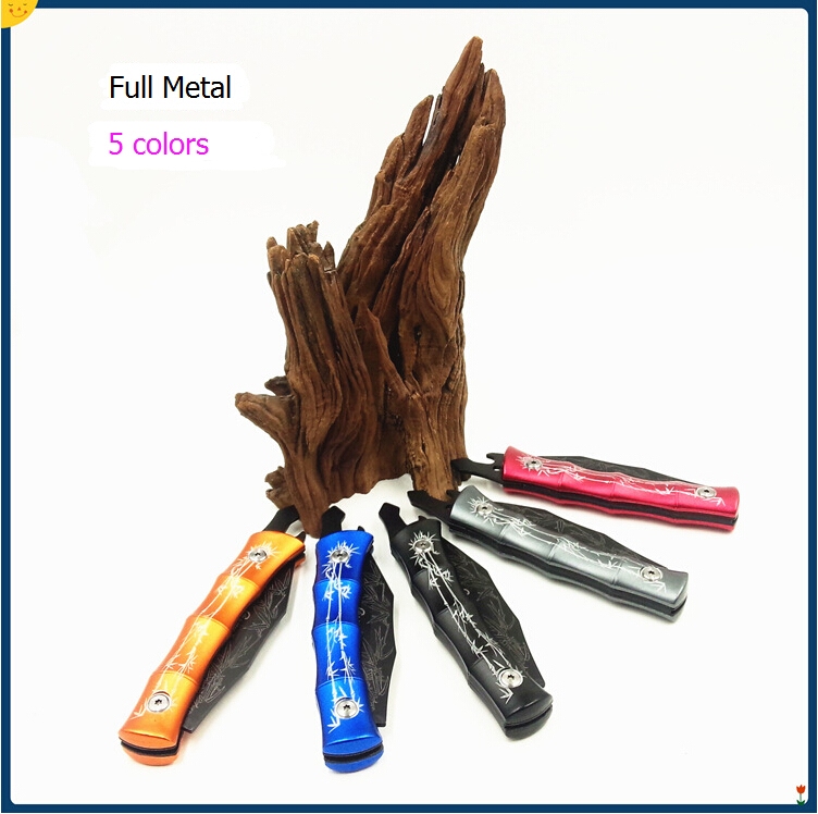 A 03 New fashion Hunting knives 5 colors Stainless steel knife handle folding blade fruit knife
