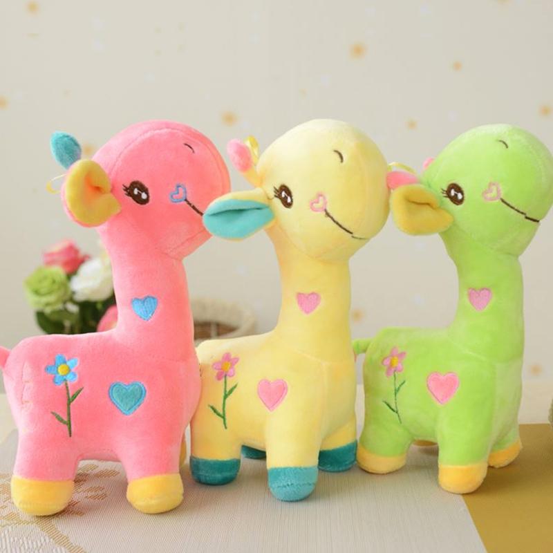 New Kawaii Giraffe Deer Plush Toys Baby&Kids Love Stuffed&Plush Animal Cloth Doll Toys for Children Birthday&Christmas Gifts(China (Mainland))